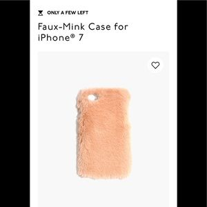 Madewell Faux-Mink Case for iPhone 6&7 NWT